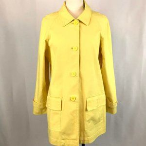Liz Claiborne Yellow Trench Coat, Large, Lined
